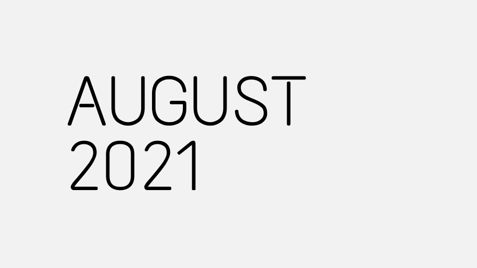 Aug 2021 Updates