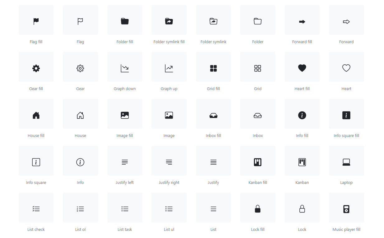 Bootstrap Icons - Overview