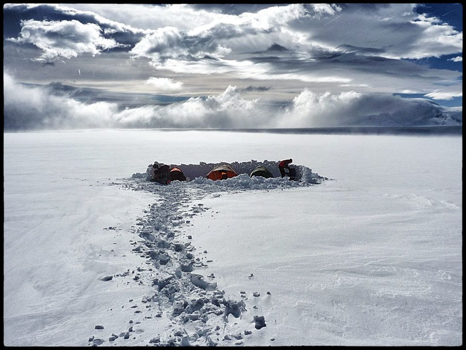 Isolated and far from help on the Patagonian Icecap