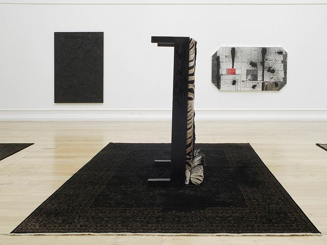 Installation view, Rashid Johnson