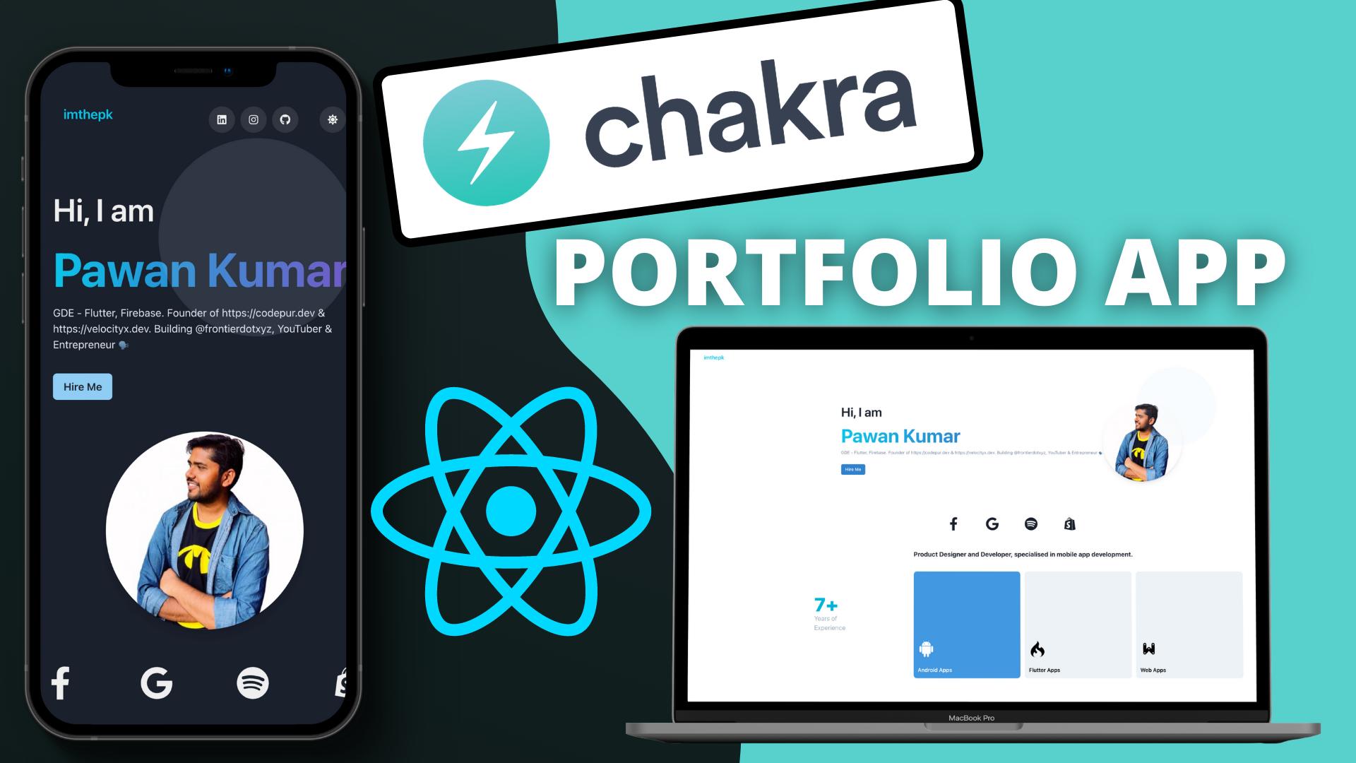 Build a React Responsive Portfolio App Using Chakra UI